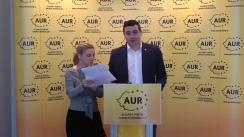 Conferință de presă organizată de Alianța pentru Unirea Românilor privind modificările aduse la Legea Educației și impactul acestora asupra elevilor, studenților, cadrelor didactice și la nivelul întregii societăți