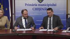 Semnarea de către Primăria municipiului Chișinău și Camera de Comerț și Industrie a Republicii Moldova a acordului  de colaborare în vederea promovării și dezvoltării activității de întreprinzător în municipiul Chișinău