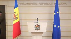 """Briefing susținut de către deputații fracțiunii PAS, Blocul ACUM cu tema """"Limitarea drepturilor opoziției în Parlamentul Republicii Moldova"""""""