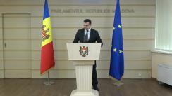 Briefing de presă susținut de Secretarul general al Parlamentului Republicii Moldova, Adrian Albu, privind achiziția de tablete PC pentru sistemul e-vot