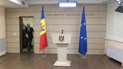 Briefing de presă susținut de către deputații grupului parlamentar Pro Moldova