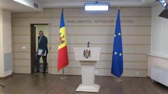 Briefing susținut de Președintele Fracțiunii PAS Blocul ACUM, Igor Grosu și Președintele Fracțiunii ACUM Platforma DA, Alexandru Slusari
