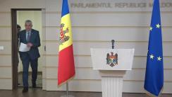 Declarațiile lui Alexandru Slusari după ședința Parlamentului Republicii Moldova din 21 februarie 2020