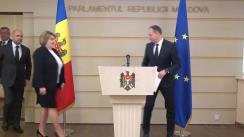 Briefing de presă susținut de către deputații grupului Pro Moldova