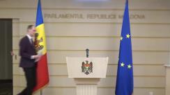 Briefing de presă susținut de către deputatul Fracțiunii Blocul ACUM Platforma DA, Liviu Vovc