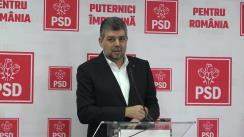 Conferință de presă după ședința conducerii interimare a PSD