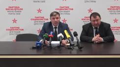 Briefing de presă susținut de către Partidul Socialiștilor din Republica Moldova