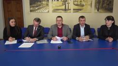 Conferință de presă susținută de către consilierii Platformei DA din cadrul Consiliului Municipal Chișinău