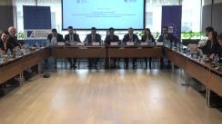 """Masa rotundă organizată de Institutul pentru Politici și Reforme Europene cu tema """"Alegerile prezidențiale din Republica Moldova: cum asigurăm condiții optime de vot pentru cetățenii modoveni din diasporă?"""""""