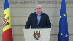 Briefing de presă susținut de Președintele Comisiei juridice, numiri și imunități, Vasile Bolea, privind concursul pentru funcțiile de membru al Consiliului Superior al Magistraturii