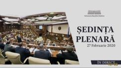 Ședința Parlamentului Republicii Moldova din 27 februarie 2020