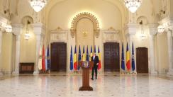Declarația de presă susținută de Președintele României, Klaus Iohannis, la finalul consultărilor cu partidele și formațiunile politice parlamentare
