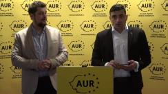 Conferință de presă organizată de Alianța pentru Unirea Românilor