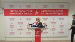 Briefing de presă susținut de Partidul Socialiștilor din Republica Moldova