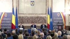 Prezentarea raportului privind activitatea desfășurată de Ministerul Afacerilor Interne în anul 2019 și a principalelor obiective pentru anul 2020