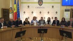 Conferință de presă susținută de fracțiunea Platformei DA din cadrul Consiliului Municipal Chișinău