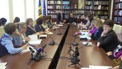 Întrunirea Comisiei parlamentară cultură, educație, cercetare, tineret, sport și mass-media cu reprezentanți ai bibliotecilor publice, orășenești, raionale, științifice, instituționale pentru a iniția discuții despre situația din domeniul bibliotecilor