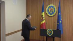 Declarațiile Prim-ministrului Republicii Moldova, Ion Chicu, după ședința Guvernului Republicii Moldova din 4 martie 2020