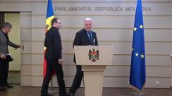 Declarația reprezentanților PDM după prima discuție între grupurile de lucru PSRM-PDM, privind stabilirea unui parteneriat politic