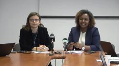 Conferință de presă organizată de Grupul de lucru al ONU privind discriminarea împotriva femeilor, cu prilejul vizitei experților de resort ai Organizației în România