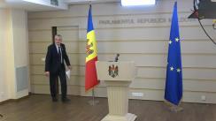 Briefing de presă susținută de către deputatul Alexandru Slusari cu privire la proiectul de lege prin care se propune instituirea unui nou mod de alocare a profitului disponibil pentru distribuire al BNM la venitul bugetului de stat