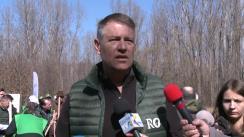 """Declarații de presă susținute de Președintele României, Klaus Iohannis, cu prilejul participării la evenimentul de lansare a Campaniei Naționale de Împădurire """"O pădure cât o țară"""""""