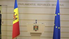 Declarații de presă susținute de Vicepreședintele Parlamentului Republicii Moldova, Alexandru Slusari