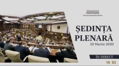 Ședința Parlamentului Republicii Moldova din 10 martie 2020