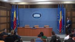 Conferință de presă privind măsurile luate, pe palierul de ordine publică, pentru prevenirea răspândirii infecției cu virusul COVID – 19 pe teritoriul României