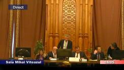 Ședința comisiei juridice, de disciplină și imunități a Camerei Deputaților României din 10 martie 2020