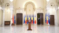 Declarație de presă susținută de Președintele României, Klaus Iohannis, după videoconferința cu șefii de stat sau de guvern din statele membre ale Uniunii Europene pe tema măsurilor privind gestionarea COVID-19