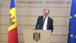 Conferință de presă susținută de către deputatul Liviu Vovc cu privire la o nouă inițiativă legislativă