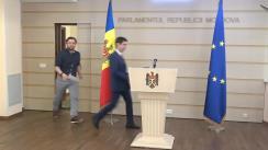 Declarațiile lui Dumitru Alaiba și Mihai Popșoi în timpul ședinței Parlamentului Republicii Moldova din 12 martie 2020