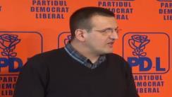 Conferință de presă susținută de Europarlamentarul PDL Cristian Preda