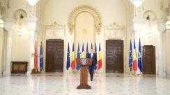 Declarație de presă susținută de Președintele României, Klaus Iohannis, după consultările cu partidele parlamentare, în vederea desemnării candidatului pentru funcția de Prim-ministru