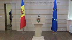 Declarații de presă susținute de vicepreședintele Parlamentului Republicii Moldova, Alexandru Slusari și deputatul Igor Munteanu