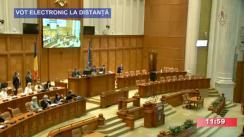 Ședința comună online a Camerei Deputaților și Senatului României din 19 martie 2020