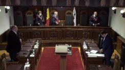 Ședința Curții Constituționale privind confirmarea rezultatelor alegerilor parlamentare noi în circumscripția electorală uninominală nr.38 din 15 martie 2020