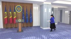 Declarație de presă susținută de viceprim-ministru pentru reintegrare, Cristina Lesnic