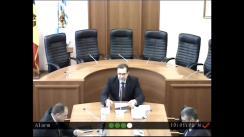 Ședința Curții de Conturi de examinare a Rapoartelor auditului conformității gestionării fondurilor publice de către Unitatea de Implementare și Administrare a Proiectului Creșterii Producției Alimentare (2KR) în perioada de activitate și a Autorității Naționale de Integritate încheiate la 31 decembrie 2019