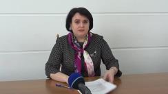 Briefing de presă susținut de Ministrul Sănătății, Muncii și Protecției Sociale, Viorica Dumbrăveanu, de prezentare a informațiilor actualizate privind controlul infecției prin Coronavirusul de tip nou, la nivel național