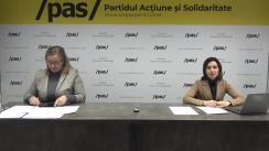 Maia Sandu, Președintele PAS, și Galina Sajin, deputat PAS, în dialog cu Diaspora
