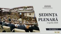 Ședința Parlamentului Republicii Moldova din 2 aprilie 2020