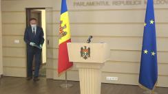 Briefing de presă susținut de către deputații Grupului parlamentar PRO MOLDOVA după ședința Parlamentului Republicii Moldova din 2 aprilie 2020