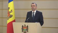 Declarațiile Prim-ministrului Republicii Moldova, Ion Chicu, după ședința Parlamentului Republicii Moldova din 2 aprilie 2020