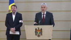Briefing de presă susținut de către deputații Fracțiunii Platforma DA Blocul ACUM, Alexandru Slusari și Igor Munteanu