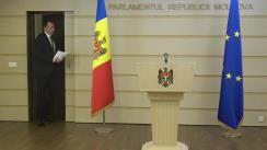 """Briefing de presă susținut de deputatul Partidului Politic """"ȘOR"""", Denis Ulanov, cu tema """"Incompetență sau rea intenție? Procedura de angajare a răspunderii, în contradicție flagrantă cu hotărârea Curții Constituționale"""""""