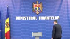 Briefing de presă susținut de Viceprim-ministrul, ministru al Finanțelor, Serghei Pușcuța