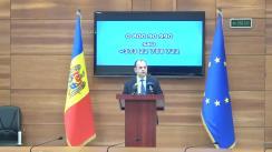 Briefing de presă susținut de Ministrul Afacerilor Externe și Integrării Europene, Oleg Țulea, privind graficul curselor aeriene pentru repatrierea cetățenilor moldoveni aflați peste hotarele țării, precum și rolul ministerului și misiunilor diplomatice în organizarea acestui proces