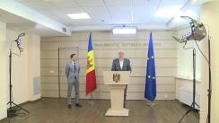 Briefing de presă susținut de către deputații Fracțiunii Platforma DA Blocul ACUM, Alexandru Slusari și Dinu Plîngău